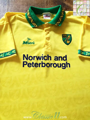 1994/95 Norwich City Home Football Shirt (L)