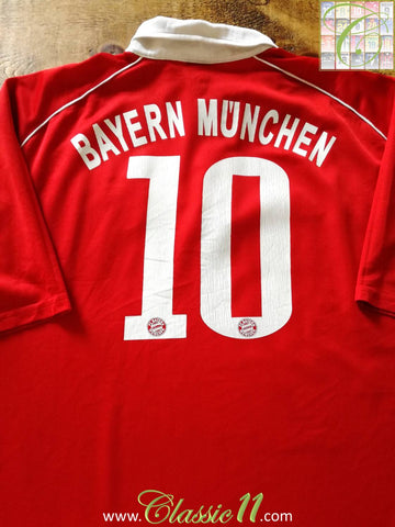 2005/06 Bayern Munich Home Football Shirt #10 (XL)