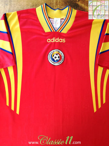 1996/97 Romania Away Football Shirt (L)