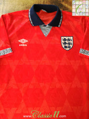 1990/91 England Away Football Shirt (B)