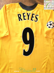 2005/06 Arsenal Away Champions League Football Shirt Reyes #9 (L)