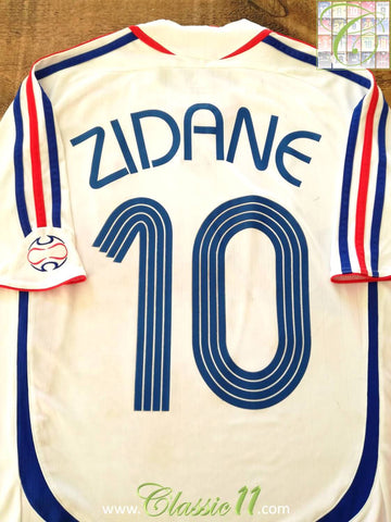2006/07 France Away Football Shirt Zidane #10 (M)