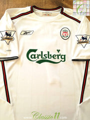 2003/04 Liverpool Away Premier League Football Shirt (L)