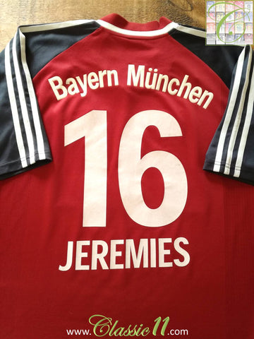 2001/02 Bayern Munich Home Football Shirt Jeremies #16 (XL)