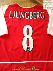 2002/03 Arsenal Home Premier League Football Shirt Ljungberg #8 (S)