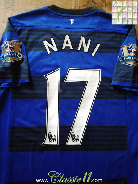 3a32438ecf0 2011 12 Man Utd Away Premier League Football Shirt Nani  17   Jersey ...