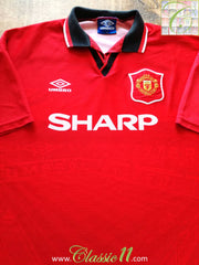 1994/95 Man Utd Home Football Shirt (L)