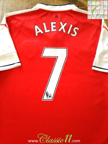 2016/17 Arsenal Home Premier League Football Shirt Alexis #7 (XL)