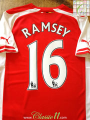 2014/15 Arsenal Home Premier League Football Shirt Ramsey #16 (S)