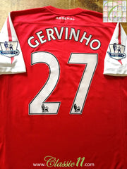2011/12 Arsenal Home Premier League Football Shirt Gervinho #27 (L)