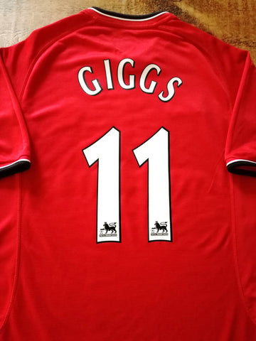 2001 Man Utd Home Testimonial Football Shirt Giggs #11 (L)