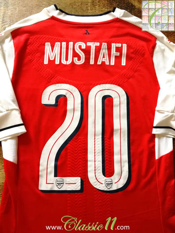 2016/17 Arsenal Home European Player Issue Football Shirt Mustafi #20 (M)