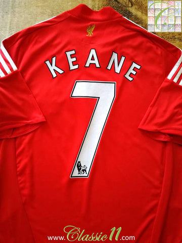 2008/09 Liverpool Home Premier League Football Shirt Keane #7 (M)