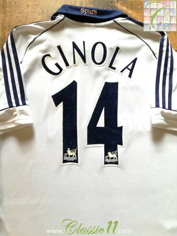 1999/00 Tottenham Hotspur Home Premier League Football Shirt Ginola #14 (XL)