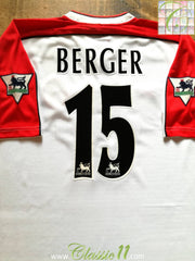1998/99 Liverpool Away Premier League Football Shirt Berger #15 (L)