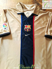 2001/02 Barcelona Away La Liga Football Shirt (S)