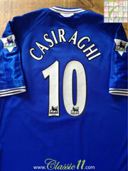 1999/00 Chelsea Home Premier League Football Shirt Casiraghi #10 (L)