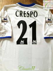 2003/04 Chelsea Away Premier League Football Shirt Crespo #21 (L)