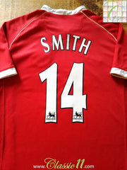 2006/07 Man Utd Home Premier League Football Shirt Smith #14 (M)