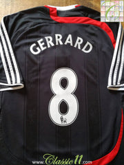 2007/08 Liverpool 3rd Premier League Football Shirt Gerrard #8 (L)