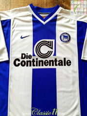 1999/00 Hertha Berlin Home Football Shirt (S)