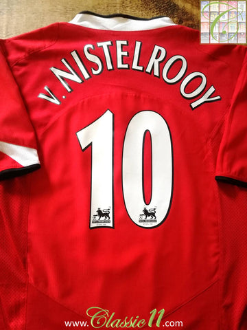 2004/05 Man Utd Home Premier League Football Shirt v.Nistelrooy #10 (XXL)
