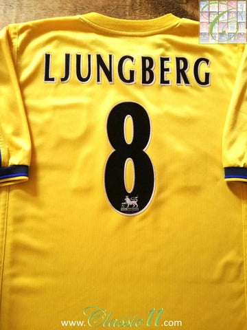 1999/00 Arsenal Away Premier League Football Shirt Ljungberg #8 (XL)