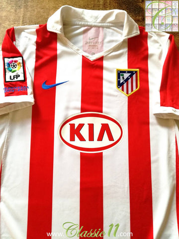 2010/11 Atlético Madrid Home La Liga Football Shirt (M)