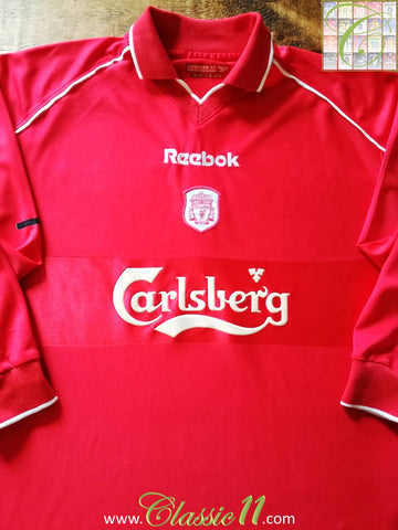 2000/01 Liverpool Home Football Shirt. (M)