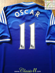 2013/14 Chelsea Home Premier League Football Shirt Oscar #11 (S)