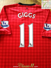 2012/13 Man Utd Home Premier League Football Shirt Giggs #11 (S)