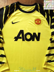 2010/11 Man Utd Goalkeeper Football Shirt Yellow (L)
