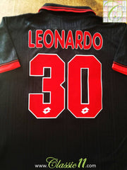 1997/98 AC Milan Away Football Shirt Leonardo #30 (M)