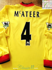 1997/98 Liverpool Away Premier League Football Shirt. McAteer #4 (M)