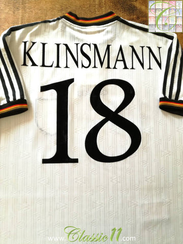 1996/97 Germany Home Football Shirt Klinsmann #18 (L)