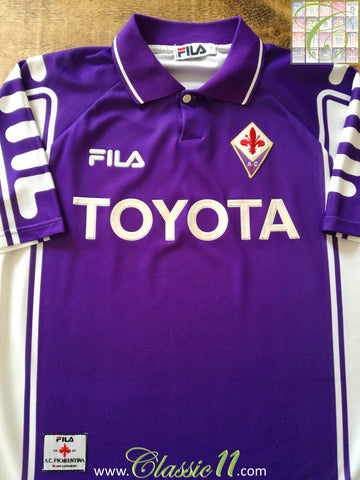 1999/00 Fiorentina Home Football Shirt (M)