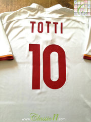 2015/16 Roma Away Football Shirt Totti #10 (XXL)