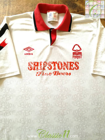 1991/92 Nottingham Forest Away Football Shirt (L)
