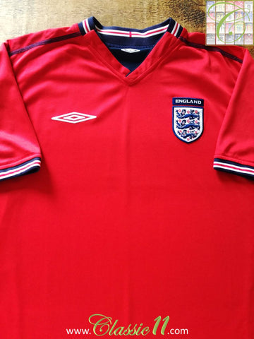 2002/03 England Away Football Shirt (XL)