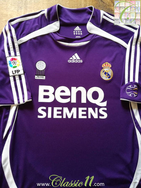 2006 07 Real Madrid 3rd Football Shirt   Old Vintage Soccer Jersey ... 6d2f559f8