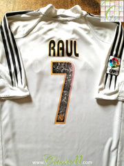 2004/05 Real Madrid Home La Liga Football Shirt Raul #7 (L)