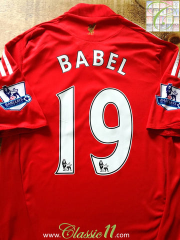 2008/09 Liverpool Home Premier League Football Shirt Babel #19 (S)