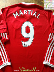 2015/16 Man Utd Home Premier League Football Shirt. Martial #9 (S)