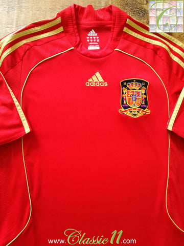 2007/08 Spain Home Football Shirt (XXL)