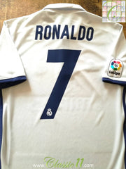2016/17 Real Madrid Home La Liga Football Shirt Ronaldo #7 (S)