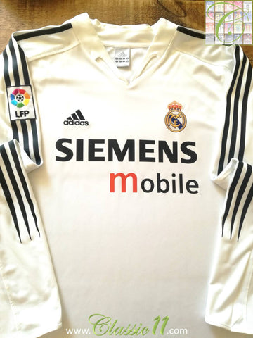 2004/05 Real Madrid Home La Liga Football Shirt. (XXL)