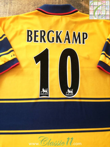 1997/98 Arsenal Away Premier League Football Shirt Bergkamp #10 (L)