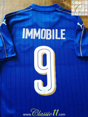 2016/17 Italy Home Football Shirt Immobile #9 (L)