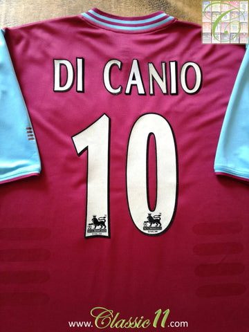 2001/02 West Ham Home Premier League Football Shirt Di Canio #10 (XL)
