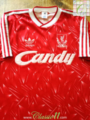 1989/90 Liverpool Home Football Shirt (M)
